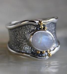 Bague argent pierre de lune Shantilight