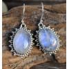 Boucles d'oreilles argent granulation bijoux pierres de lune shantilight