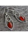 Boucles d'oreilles argent bijoux ethniques pierres cornaline shantilight