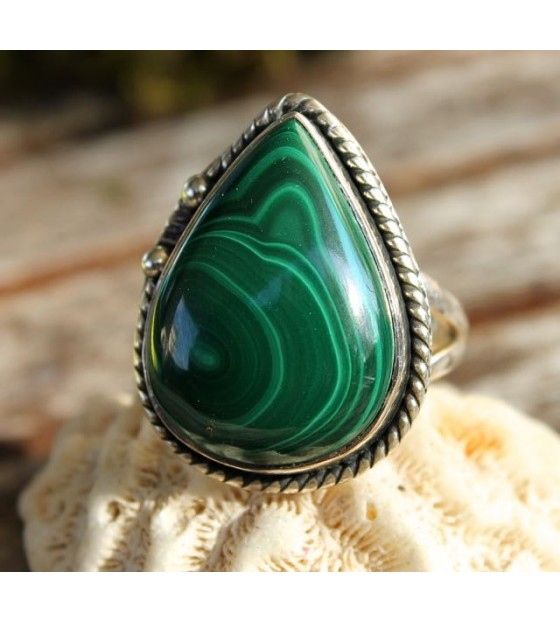 Bagueethnique bijoux indiens malachite shantilight