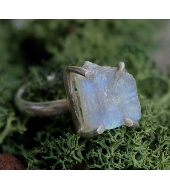 Bague argent pierre de lune bijoux indiens shantilight