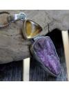 Pendentif argent bijoux ethnique tourmaline et citrine shantilight