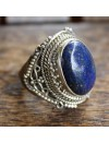 """Bague argent """"Nirmala"""" bijou indien pierre naturelle lapis lazuli"""