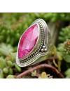 Bague ethnique bijoux argent pierre naturelle rubis Shantilight