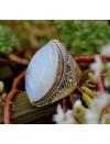 Bague argent bijoux ethnique flower moonstone pierre de lune Shantilight