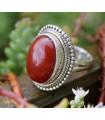 Bague ethnique bijou argent pierre naturelle onyx rouge Shantilight