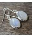 Boucles d'oreilles argent pierres de lune arc en ciel naturelle shantilight