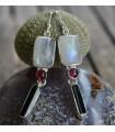 Boucles d'oreilles argent bijoux pierres naturelles shantilight