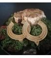 Boucles d'oreilles créoles laiton bijoux Boho chic laiton Shantilight