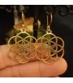 Boucles d'oreilles laiton bijoux boho fleur de vie Naturalprana