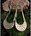 Boucles d'oreilles laiton bijoux boho martelés textures Shantilight