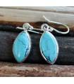 Boucles d'oreilles argent bijoux ethnique pierres naturelles turquoise