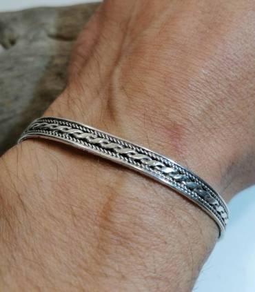 Bracelet argent bijoux ethnique homme ou femme Shantilight